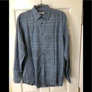 Burberry London blue nova check design shirt L 16